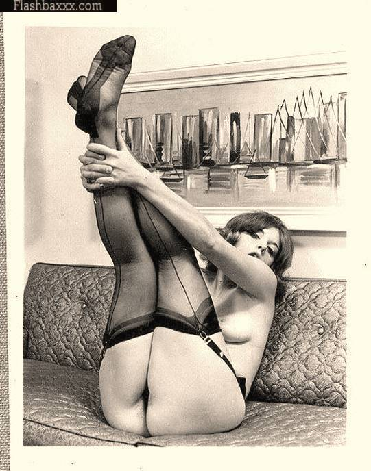 Retro vintage lingerie models